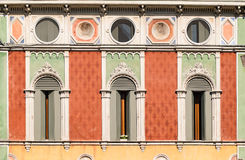 Windows in Venetian Gothic style. Royalty Free Stock Photography