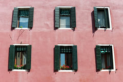 Windows in Venice Royalty Free Stock Photography