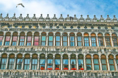 Windows of Venice against the sky. Stock Photography
