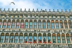 Windows of Venice against the sky. Stock Photography