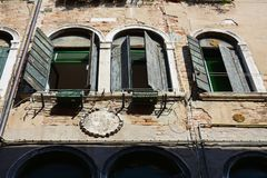 Windows in Venice, Italy Royalty Free Stock Image