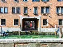 Windows of Venice stock image