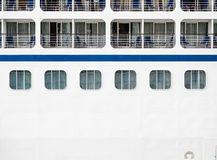 Windows and Verandas on Side of Ship Royalty Free Stock Image
