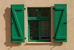 Windows verde Fotografie Stock