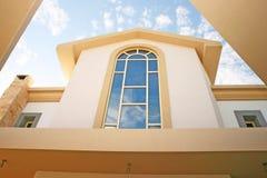 Windows of villa. Beautiful huge windows of villa Stock Image