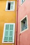Windows в Villefranche-sur-Mer Стоковые Фотографии RF
