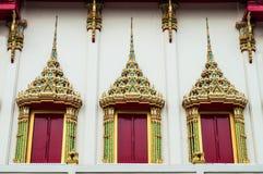 Windows von Buddha Hall Lizenzfreies Stockfoto