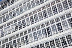 Windows von La Coruna, Galizien Lizenzfreies Stockbild