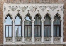 Windows von Venedig Stockfotos
