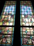 Windows vu par une fenêtre en verre teinté Images stock