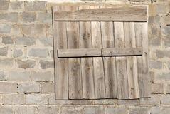 Windows w ceglany domowy w budowie Zdjęcie Stock