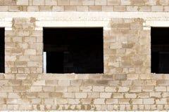 Windows w ceglany domowy w budowie Zdjęcia Royalty Free