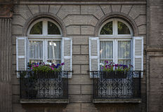 Windows w Tuluza Zdjęcie Stock