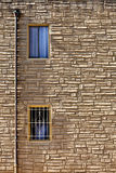 Windows on wall. Two windows on a wall Royalty Free Stock Images