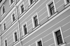 windows on a wall Stock Photo