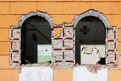 Windows  wall  house  old  repair Stock Photo