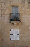 Windows on a wall in Malta Stock Images