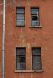 Windows on the wall of an old house Royalty Free Stock Photography
