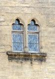 Windows on wall stone. It´s a vertical picture Royalty Free Stock Photography