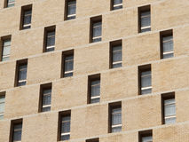Windows and walls. A fan of the window to the wall of the building is divided into a princess Royalty Free Stock Images