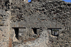 Windows and Walls, Pompeii Archaeological Site, nr Mount Vesuvius, Italy Royalty Free Stock Images