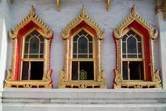 Windows of Wat Benchamabophit (Marble temple) Royalty Free Stock Photography