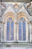 Windows of Wells cathedral Royalty Free Stock Image