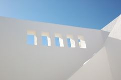 Windows in the white wall. Of arabian house Royalty Free Stock Images