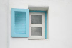 Windows on white wall Royalty Free Stock Images