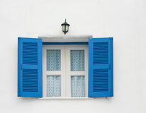 Windows on white wall Stock Photography