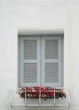 Windows on white wall Royalty Free Stock Photo