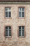 Windows. On the building, brick facade royalty free stock photos