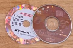 Windows 7 and Windows XP stock images