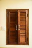 Windows wood shutters Royalty Free Stock Image