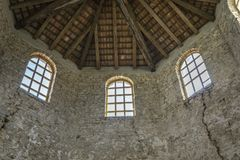 Windows and wooden dome royalty free stock photo
