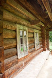 Windows on wooden house Stock Images