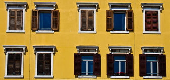 Windows with wooden shutters Royalty Free Stock Image