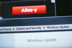 Windows XP-Aktualisierung Stockbilder