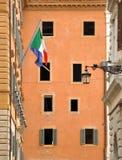 Windows y el indicador de Italia Fotografía de archivo