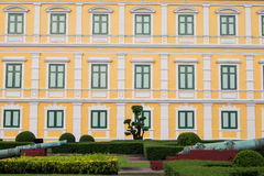Windows with yellow wall Royalty Free Stock Image