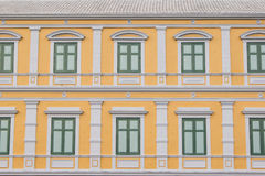Windows with yellow wall Royalty Free Stock Photography