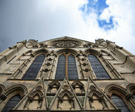 Windows of York Minster. The windows of York Minster viewed from below Royalty Free Stock Photography