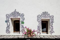 Windows z dekoracjami obrazy royalty free