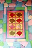 Windows z kolorowym artystyczny projekt Zdjęcie Stock