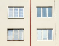 Windows z rynną Fotografia Royalty Free