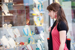 Windowshopping Royalty Free Stock Photo