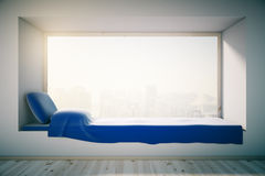 Windowsill bed interior Stock Photography