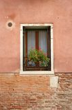 Windowsill - brick and stucco Royalty Free Stock Photo