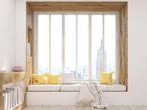 Windowsill seat front Royalty Free Stock Images