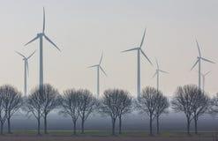 Windpark ветротурбины стоковая фотография